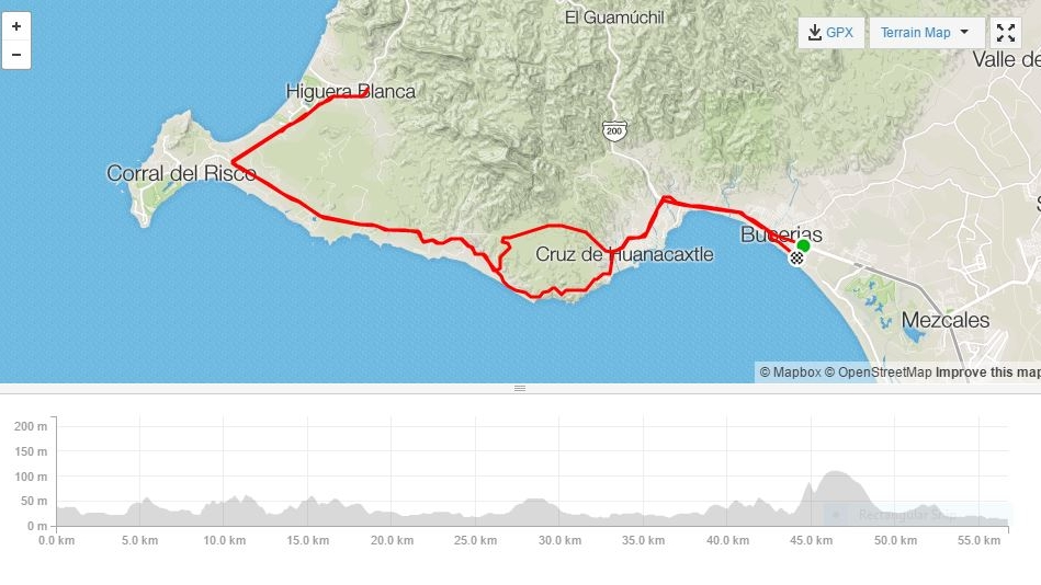 BUCERIAS AND PUERTO VALLARTA ROAD BIKE TOUR - BUCERIAS TO HIGUERA BLANCA