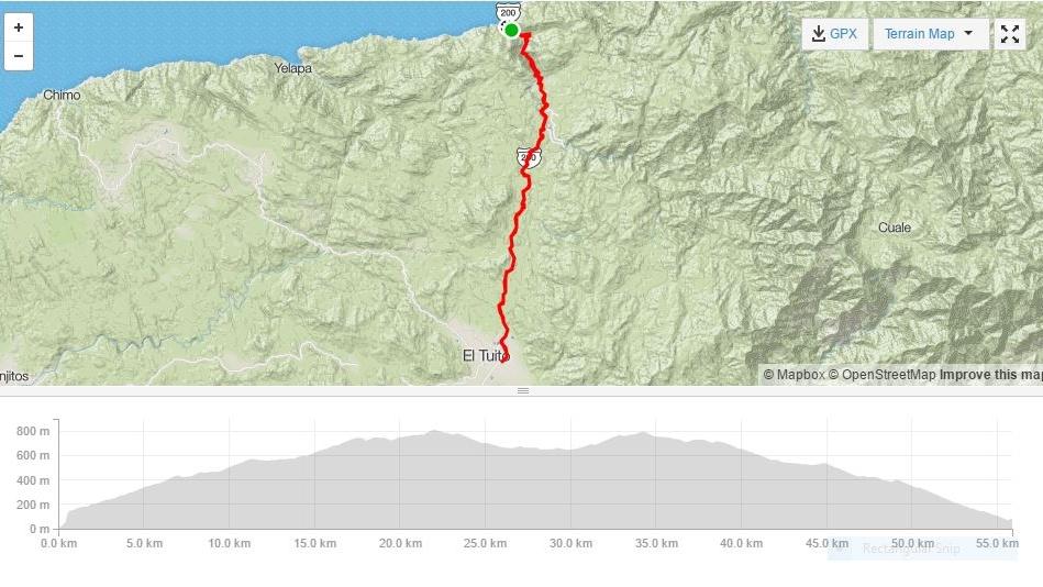 Bucerias y puerto vallarta tour ciclismo - puerto vallarta a el tuito
