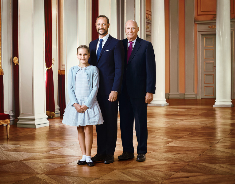 His Majesty King Harald , His Royal Highness Crown Prince Haakon and Her Royal Highness Princess Ingrid Alexandra