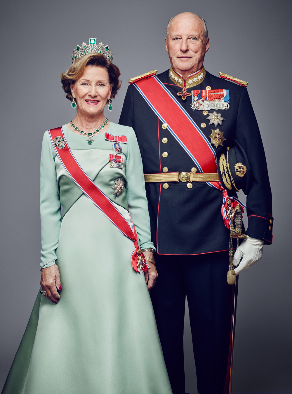 Their Majesties King Harald and Queen Sonja