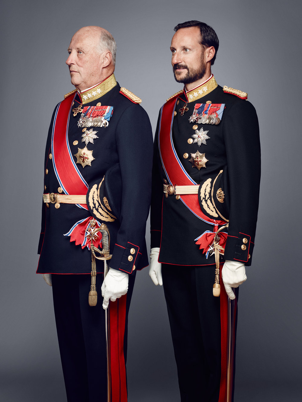 His Majesty King Harald and His Royal Highness Crown Prince Haakon