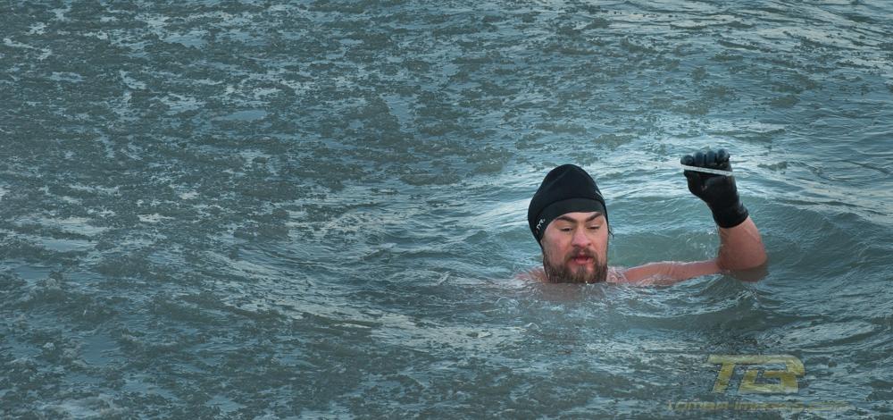 "Boban Simic "" the Lake Michigan Feb 9th Swim"