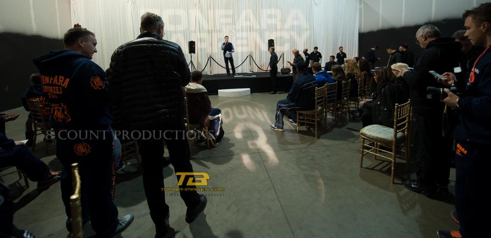 Fonfara vs Karpency Official Weigh-In at the Cinespace Studio's