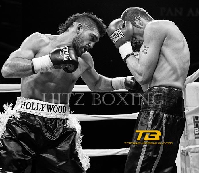 Mike Jimenez vs Bruce Rumbolz at Hitz Boxing