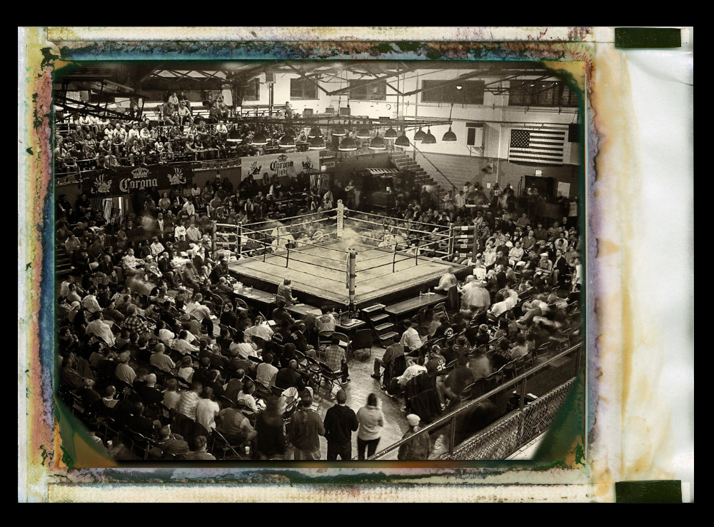 "2010 Chicago Golden Gloves ( 4"" x 5"" Speed Graphics Camera from 1935)"