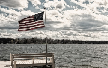 """Its good to see """"old glory"""" over the water.."""