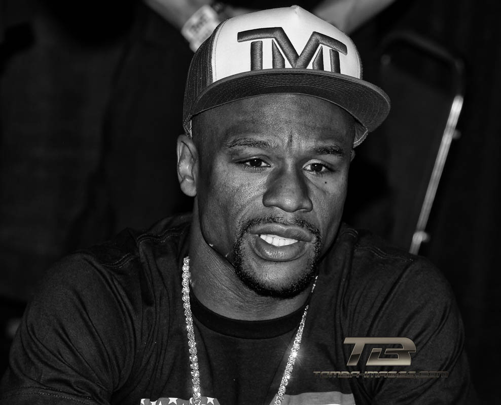 "Floyd ""Money"" Mayweather  ...  46 & 0 with 26 KO's"