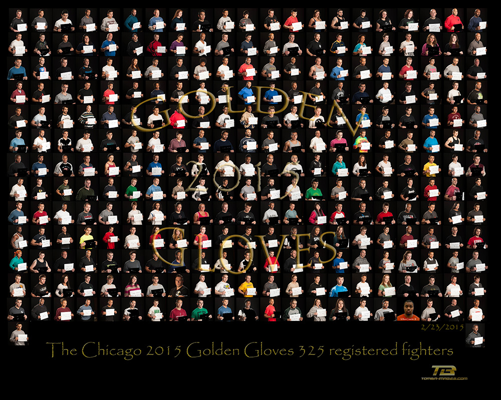 The 325 fighters who have registered for 2015 Chicago Golden Gloves as of 2/23/2015