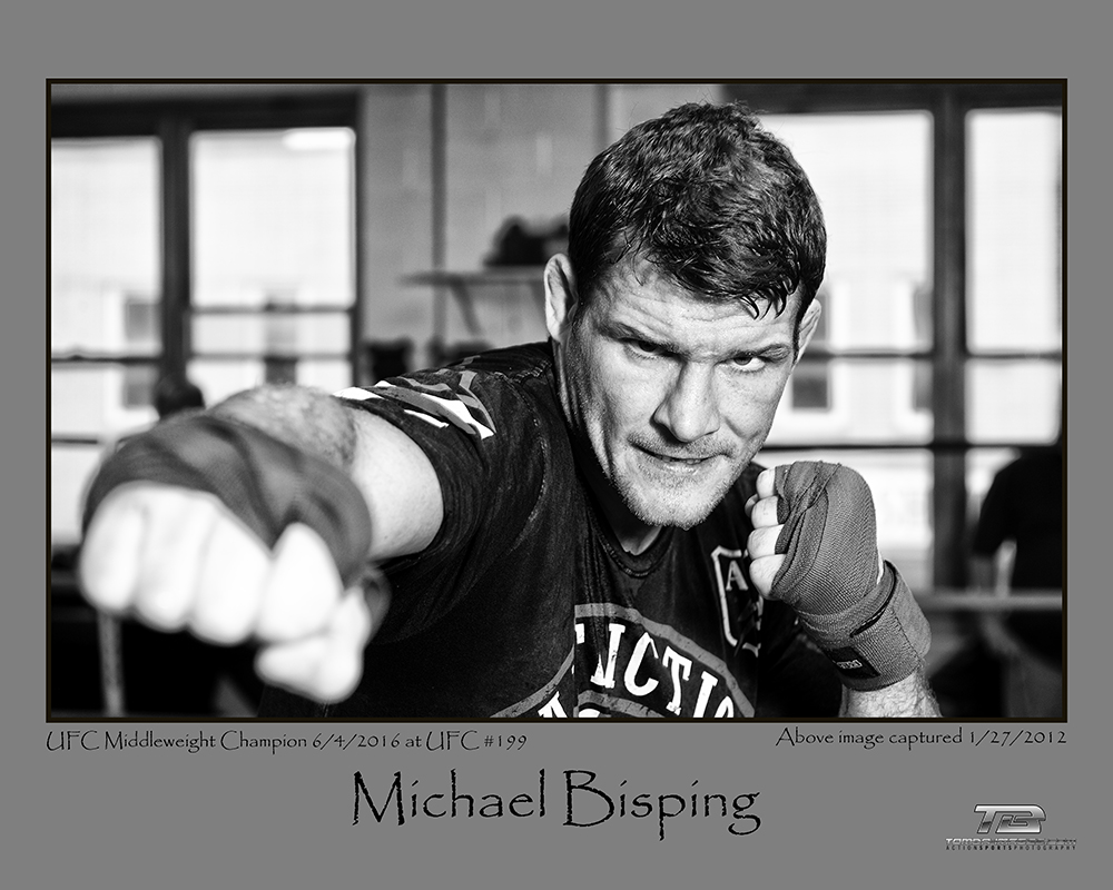 "The above image is available as a 16"" x 20"" limited edition print    Please contact Tomba-Images for information            Click on image to view in a full screen light box  The below slideshow is from the last UFC that Michael Bisping was at in Chicago."