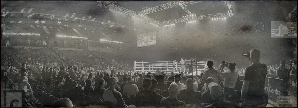 Click on image for full screen viewing .............Above image is availble as a Fine Art Print ,contact Tomba-Images for information.              Below slideshow contains my favorite images from each of the 15 matches of Glory 44 bouts,  panorama's of Sears Centre, ladies and special guests.