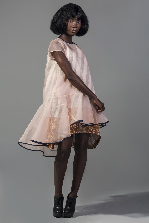 matryoshka silk organza dress