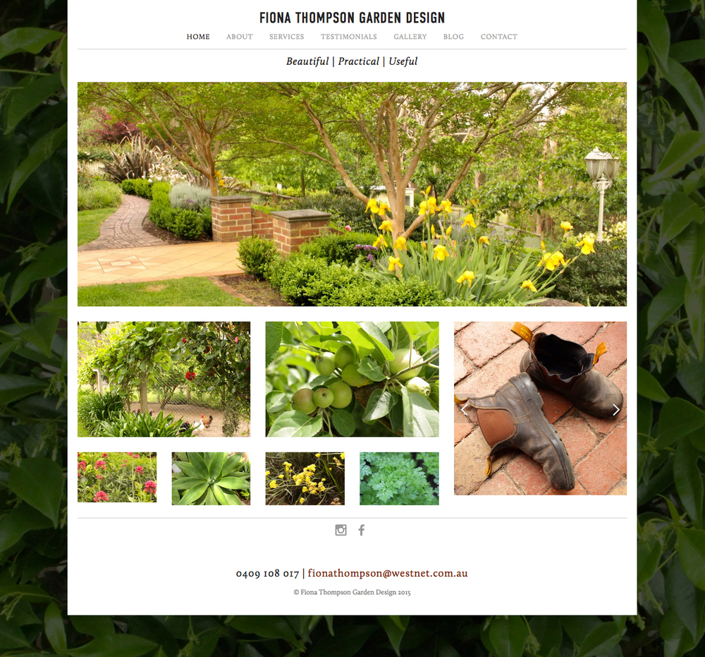 Fiona Thompson Garden Design Website U2014 Belinda Smullen Communication Design