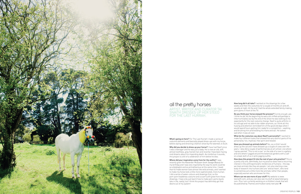 Frankie magazine, 2012, Issue no 45, page. 102.