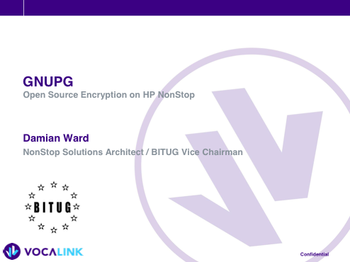 GNUPG Open Source Encryption on HP NonStop - Vocalink