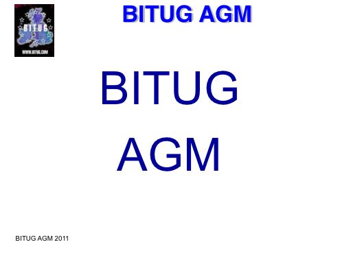BITUG AGM 2011