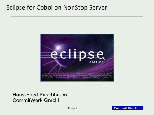Eclipse for Cobol on NonStop Server - CommitWork GmbH
