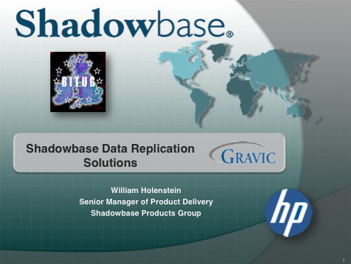 Shadowbase Data Replication Solutions - Gravic