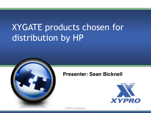 XYGATE products chosen for distribution by HP - XYPRO