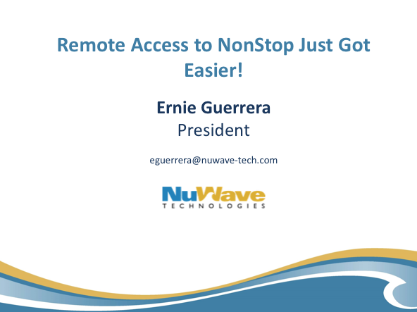 LightWave Remote Access - NuWave -  Ernie Guerrera