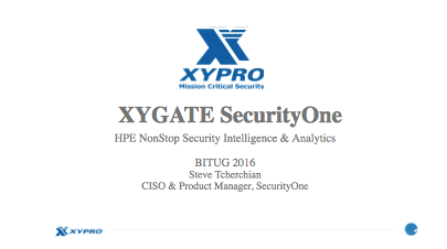 Security One - Steve Tcherchian, XYPRO