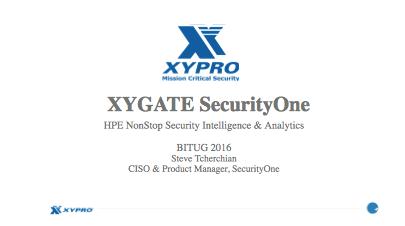 Security One - Steve Tcherchian, XYPRO
