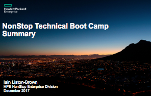 Boot Camp - Iain Liston-Brown - HPE