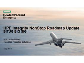 NonStop Roadmap - Iain Liston-Brown - HPE