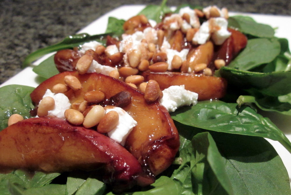 Baked peach & spinach salad resized.JPG