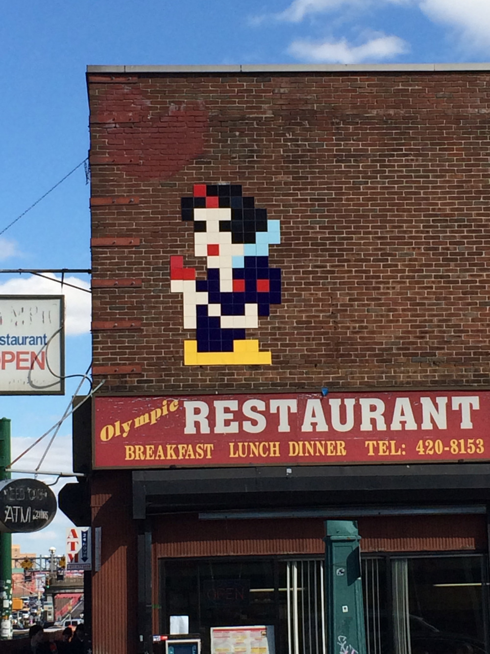 East of Dirty    Space Invader     Snow White and the Poisoned Apple    This character works amazingly well in Invaders trademarked 8-bit tile style. Check it out   Delancy St. Downtown NYC   #invader #spaceinvader #streetart #streetartNCY