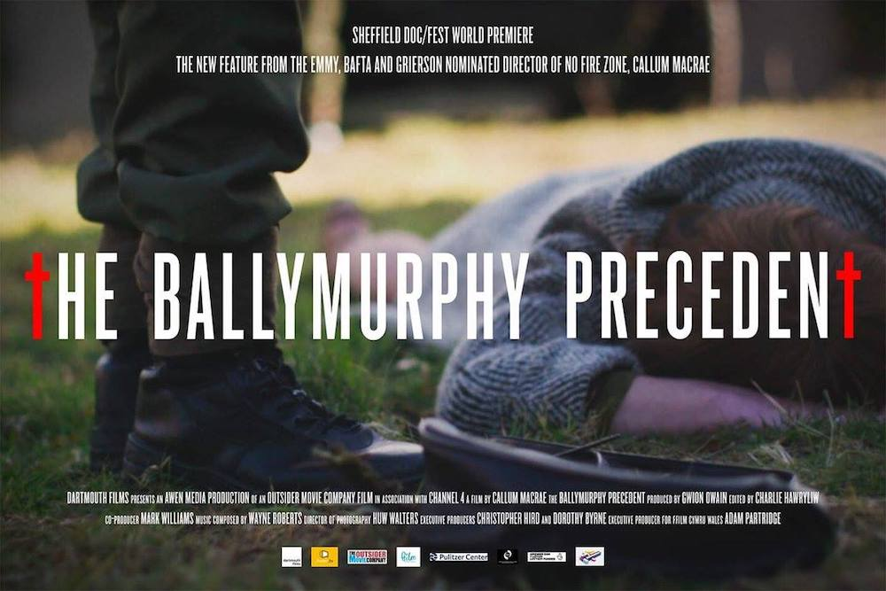The Ballymurphy Precedent directed by  Callum Macrae in cinemas 31 August 2018 following the RTS award winning student documentary  The Ballymurphy Massacre  by Sean Reynolds,  Kyle Gibbon and  Jonny Lewis  from 2012