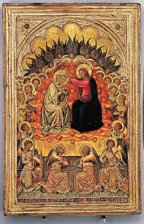Engaged cassetta frame on polyptych panel, ca. 1380