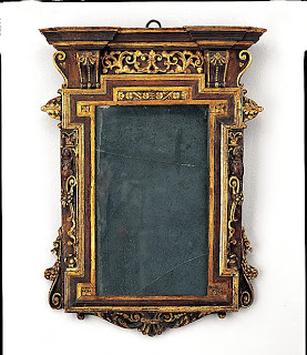 "Tabernacle Mirror Frame 1550- 1580, 19 5/8"" x 14 1/4"""