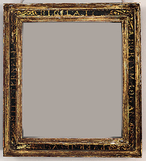 Late 16th century spanish cassetta frame with sgraffito