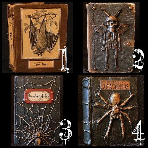 halloween altered books