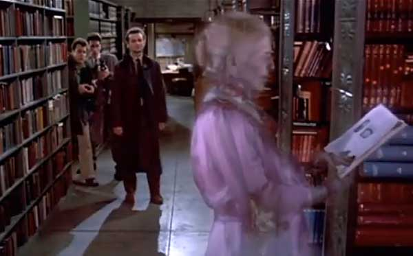 ghostbusters library scene