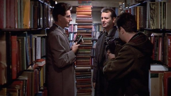 ghostbusters book stacks