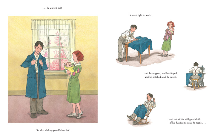 my grandfather's coat spread top ten best kids 2014 picture book long enough