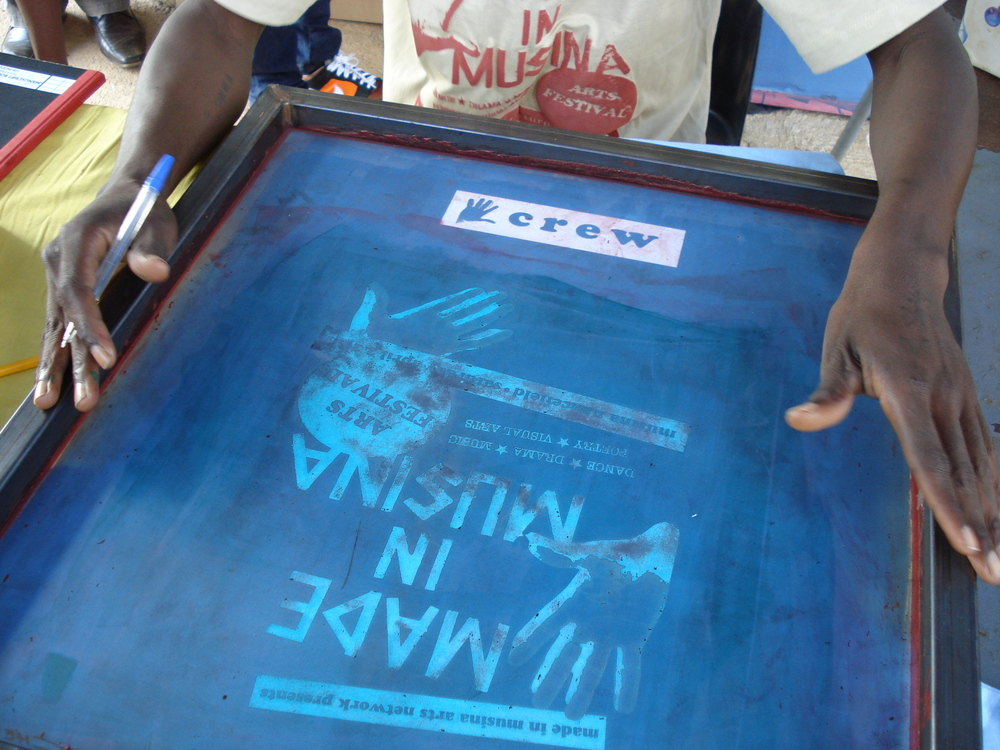 Screen-printing for the first MADE in MUSINA Arts Festival