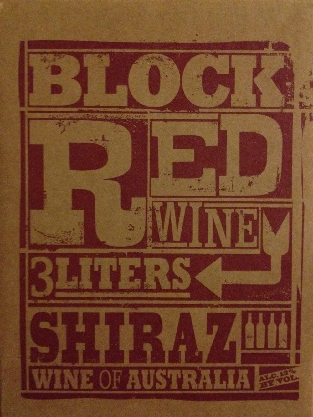 Trader Joes Block Red Shiraz photo.JPG