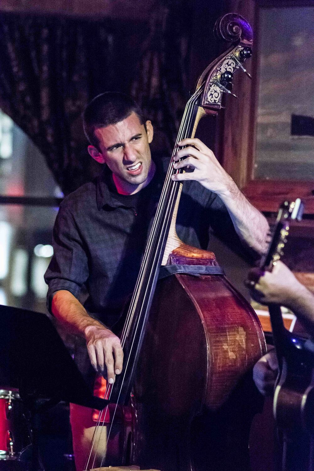 Ed Hrybyk on bassat the DC Jazz Jam - Sunday September 20, 2015