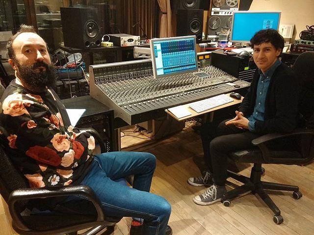 Grabando en Audiomatic la primera canción de la colaboración con @rematecantantehondo
