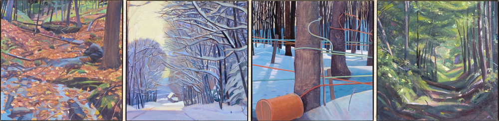 """Forest Element"", 12"" x 48"" (4 panels)"
