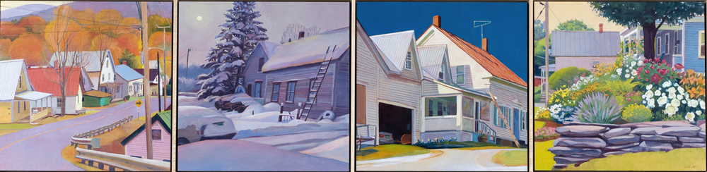 """Home Element"", 12"" x 48"" (4 panels)"