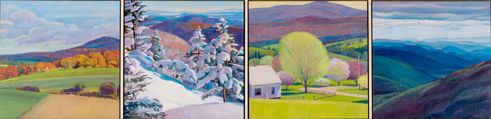 """Mountain Element"", 12"" x 48"" (4 panels)"