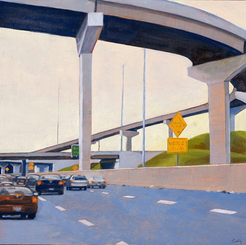 """Road Future?"", 12"" x 12"", oil on linen"
