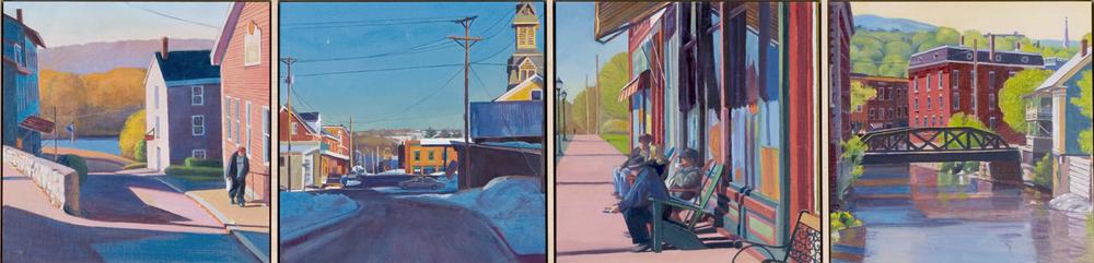 """""""Town Element"""", 12"""" x 48"""" (4 panels)"""