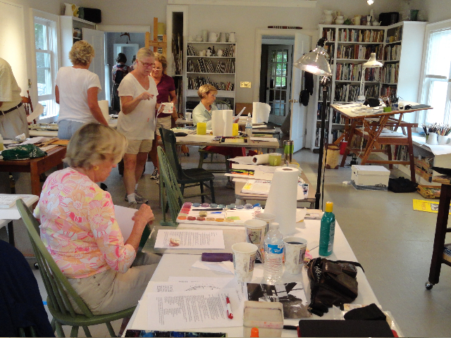 Susan's studio, Vermont Summer Painting Retreat