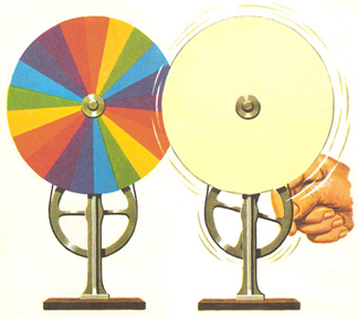 Isaac Newton's spinning color wheel, c. 1670