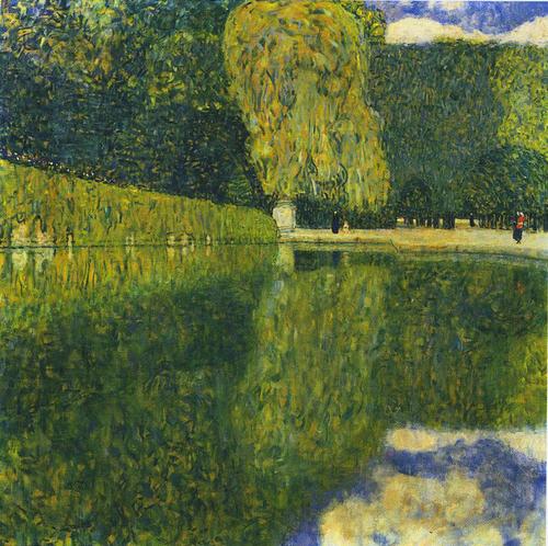 """Gustave Klimt, """"Landscape in Schonbrunn"""", 1916"""