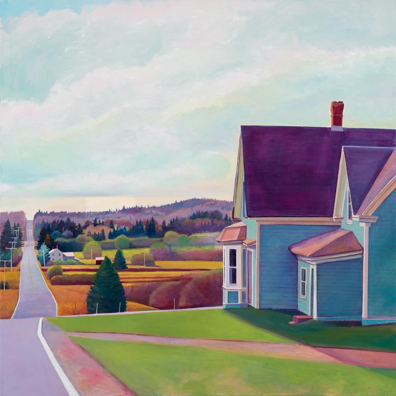 """Susan Abbott, """"Farther East"""", 48"""" x 48"""", oil on linen"""